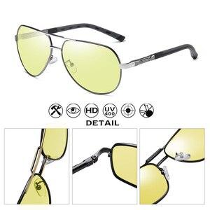 Image 4 - Luftfahrt Sonnenbrille Männer Polarisierte Photochrome Tag Nacht Fahren Sonnenbrille Für Pilot Frauen Brillen UV400 gafas de sol hombre