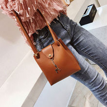 Solid Fashion Women Leather Small Shoulder Bag Handbag Lady