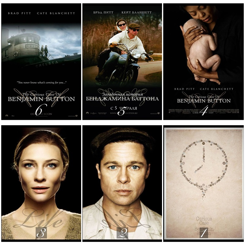 The Curious Case of Benjamin Button Movie Home Decorative Painting White Kraft Paper Poster 42X30cm