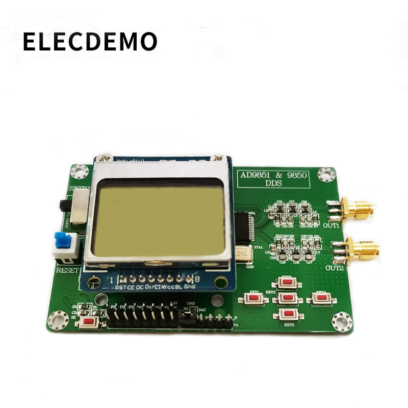 AD9850 Module DDS Function Signal Generator Send Program Compatible With 9851 With Nokia5110 Sweep Signal-generator