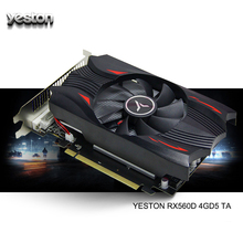 Yeston Radeon Rx 560D Gpu 4 Gb GDDR5 128 Bit Gaming Desktop Computer Pc Video Grafische Kaarten Ondersteuning DVI-D/hdmi 2.0B