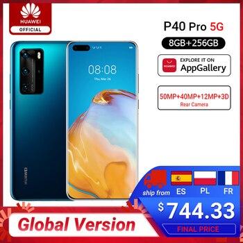 Перейти на Алиэкспресс и купить RUB 10000-1200 CODE:ALIPLUS1200,Глобальная версия Huawei P40 Pro 5G 8 Гб 256 ГБ Kirin 990 смартфон 50MP Quad Camera 6,58 ''90 Гц экран 40 Вт SuperCharge