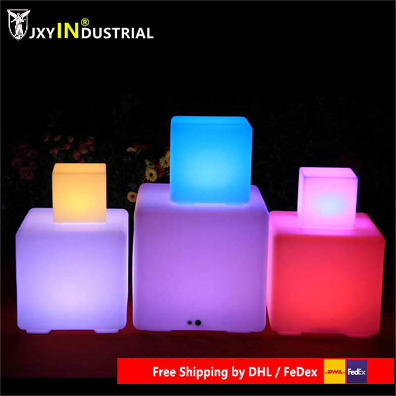 Free Shipping Led Illuminated Furniture,waterproof Outdoor Led Cube 30*30CM Chair,bar Stools, LED Seat For Christmas