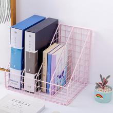 Мода в скандинавском стиле INS, металлические, три решетки, четыре решетки, офисные настольные лотки для документов, журнальные органайзеры, файловый ящик, книжная полка