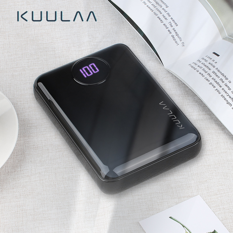 KUULAA Power Bank 10000mAh Portable Fast Charging PowerBank 10000 Dual USB Mini External Battery Charger For Xiaomi Mi PoverBank