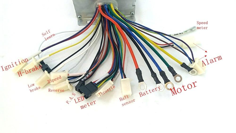 Alta qualidade 48 60v1500w ebike controlador com sw900 display lcd um conjunto