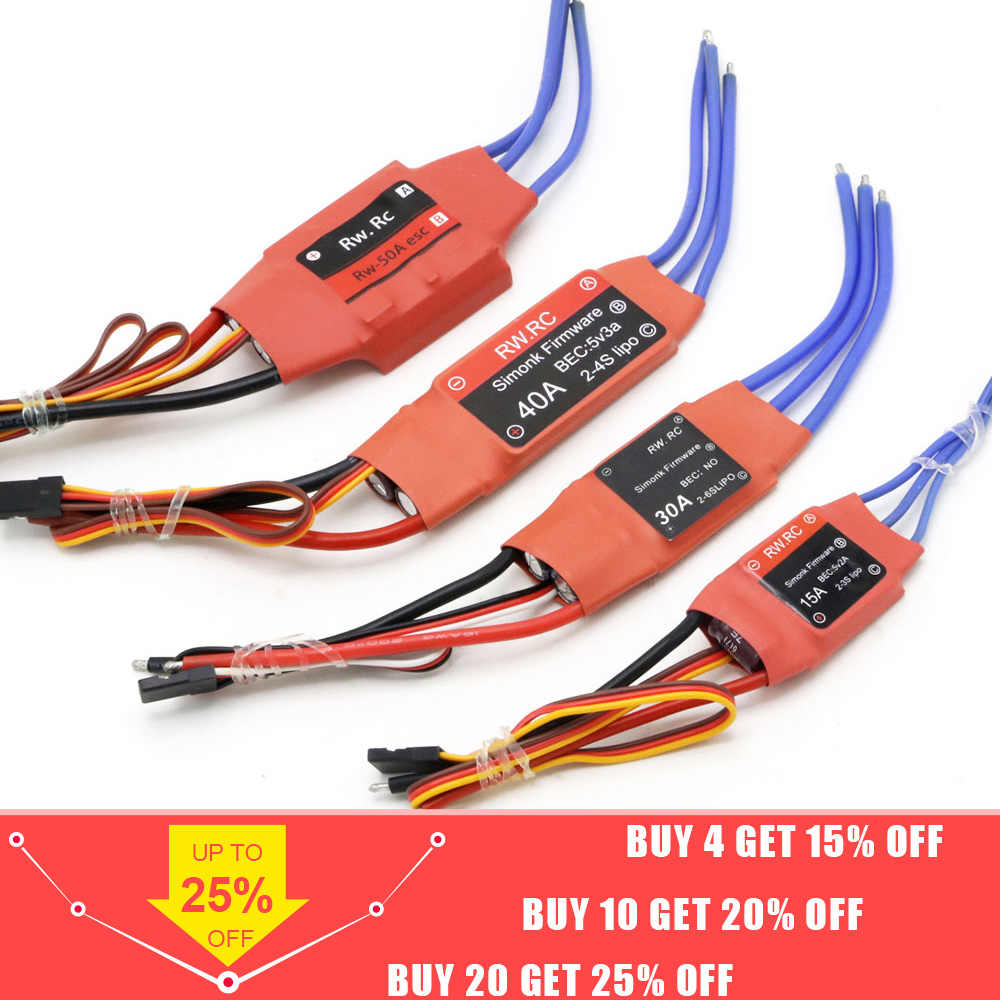 Simonk 10A 12A 15A 20A 30A 40A 50A 70A 80A Firmware Electronic Speed Controller ESC voor RC Multicopter Helicopter