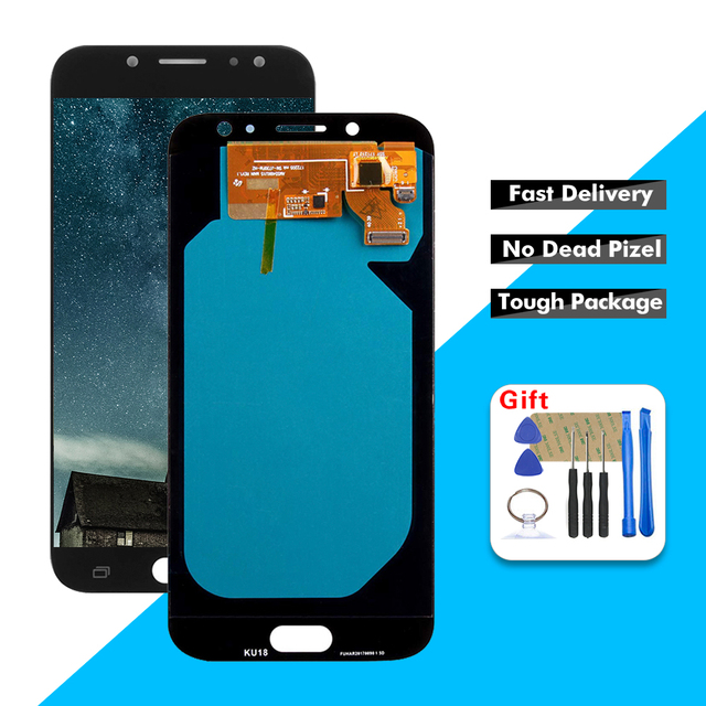 OLED LCD For 5.5'' Samsung Galaxy J7 Pro 2017 J730 J730F  LCD Ttouch Screen Digitizer Assembly With Tools