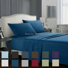 Soft Microfiber Bed Sheet Set 1800 Count 3 4 Piece Luxury Egyptian Sheets Flat Fitted Sheet