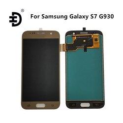 HD ЖК-экран для Samsung Galaxy S7 SM-G930F, ЖК-дисплей с сенсорным дигитайзером в сборе, ЖК-экран для Samsung S7 G930, замена дисплея