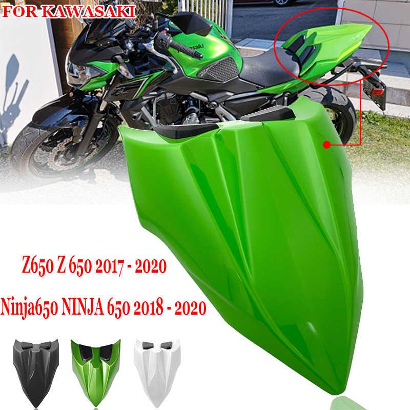 Para kawasaki ninja 650 ninja650 2018 2019 2020 assento capa traseira passageiro solo assento carenagem para kawasaki z650 z 650 2017-on