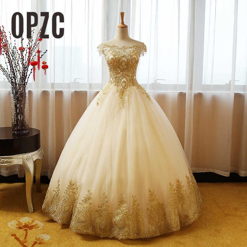 Retro Quinceanera Dresses Off The Shoulder Gold Lace Appliques Vestidos De Gala Largos Prom Dress Puffy Masquerade Ball Gowns