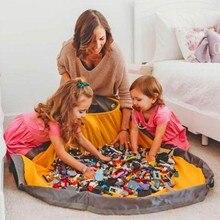 1.5m crianças jogar esteira brinquedo limpar-up sacos de armazenamento recipiente multifuncional brinquedos de grandes dimensões cesta de armazenamento ao ar livre blocos de construção esteira