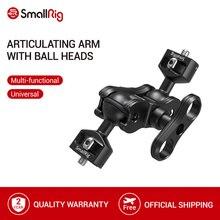 """SmallRig alüminyum alaşımlı hızlı bırakma eklemli sihirli kol çift Ballheads + 1/4 """"için vidalı montajlı monitörler 2070"""
