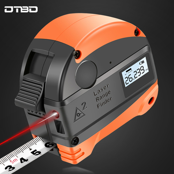 2 in 1 30M Laser Rangefinder LCD Digital Tape Measure Distance Measurer Meter Range Finder Infrared Construction Gauging Tool цена 2017