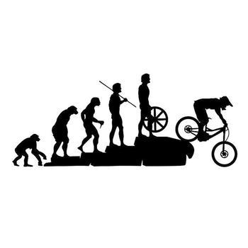50% vendas quentes!!! Engraçado evolução humana mtb bicicleta carro veículo reflexivo decalques adesivo decoração