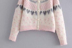 Image 2 - בציר שיק נשים עמוק V צוואר loose פרחוני מודפס boho סוודרים גבירותיי ארוך שרוול סרוג בוהמי קרדיגן סוודר