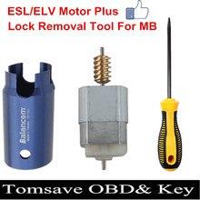 ESL ELV blokada układu kierownicy EIS EZS narzędzie do usuwania blokady dla Mercedes Benz W204 W207 W212 koło silnikowe silnik i otwarty trzpień dedykowane narzędzie