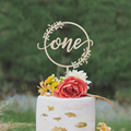 Holz Ein Kuchen Topper Geburtstag Kuchen Topper Baby der Erste Geburtstag Einem Acryl Kuchen Topper Baby Shower Party Dekoration