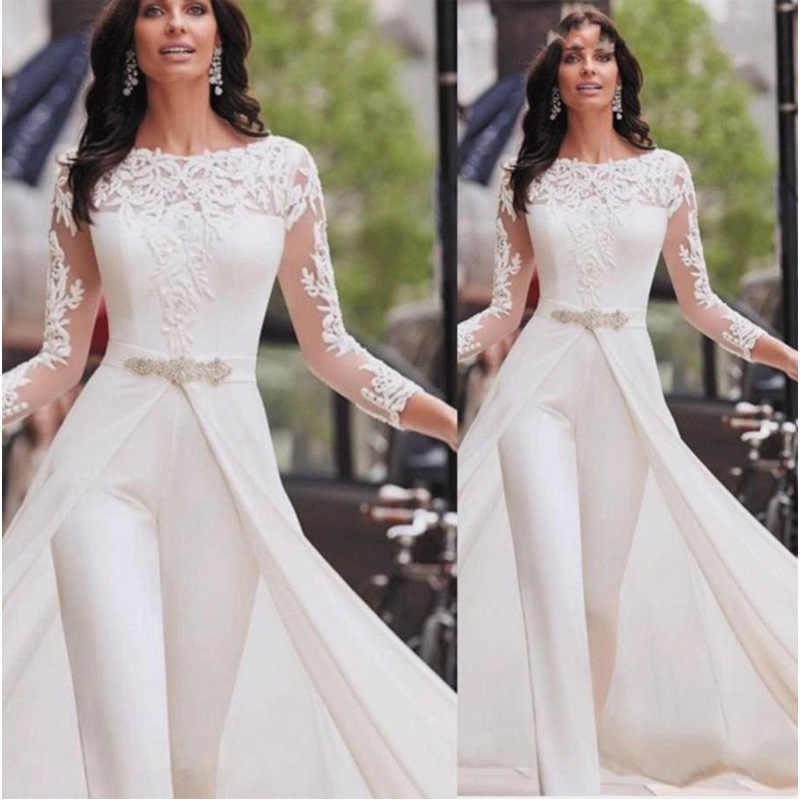 Strampler Sexy Overall Frauen Frühling Weiße Body Langarm Gefälschte Zwei Stücke Casual OL Arbeit Elegante Spitze Plus Größe Trainingsanzug