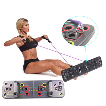 Push up Board 9 in 1 Body Building Home Comprehensive Fitness Exercise Equipment Fodable Adjustable Push-up Stands Workout Gym