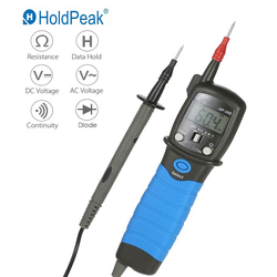 HoldPeak HP-38B ручной Ручка Тип Авто Диапазон Цифровой мультиметр DC/AC Измеритель напряжения сопротивление Диод Непрерывность тестер подсветка