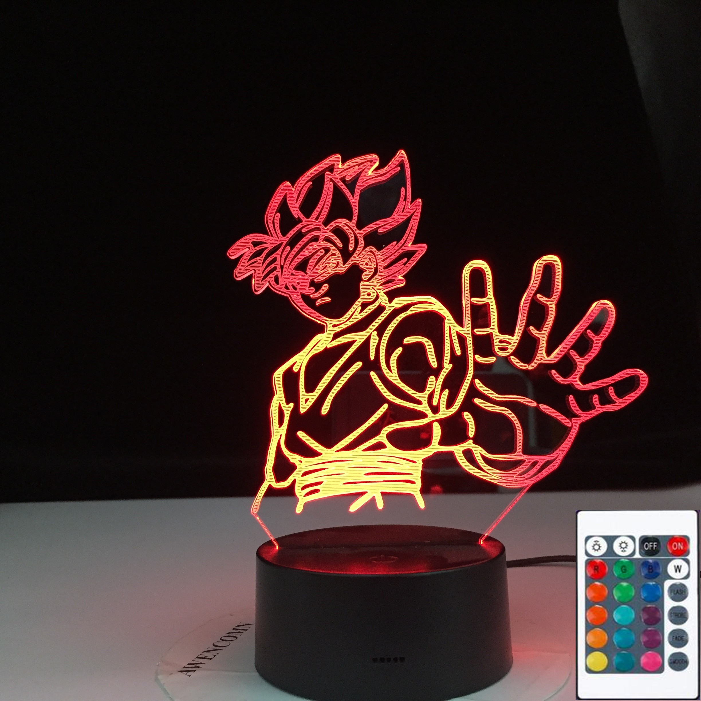 <font><b>Dragon</b></font> <font><b>Ball</b></font> Super Goku Black Figure Night Light Led Touch Sensor Colorful Nightlight for Kids Child Bedroom Decor <font><b>Lamp</b></font> Zamasu image