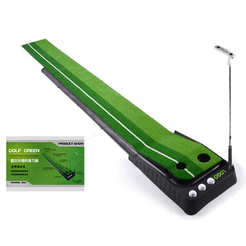 Hot Indoor Golf Putting Trainer Ball Return 2.5M/3M Portable Golf Practice Putting Mat Golf Putter Green Trainer Return Fairway