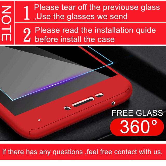 Luxury 360 Degrees Phone Case For Xiaomi Redmi Note 4 4X 5 6 7 8 8T Pro Full Cover For Redmi 5 6A 7A 8A K20 K30 Capa Coque Glass