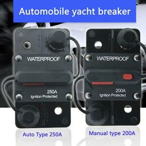 Image 2 - 30A 40A 50A 60A 70A 80A 100A 120A 150A 200A 250A 300A دائرة أمبير الكسارة فتيل إعادة 12 48V DC سيارة قارب السيارات للماء