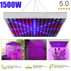 Светодиодный светильник для выращивания растений, 1500 Вт, фитолампа полного спектра для выращивания растений, светодиодный светильник для в...
