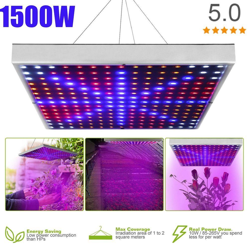 1500W LED Grow Light Hydroponic Full Spectrum UV IR Growing Lamp Panel 30*30cm