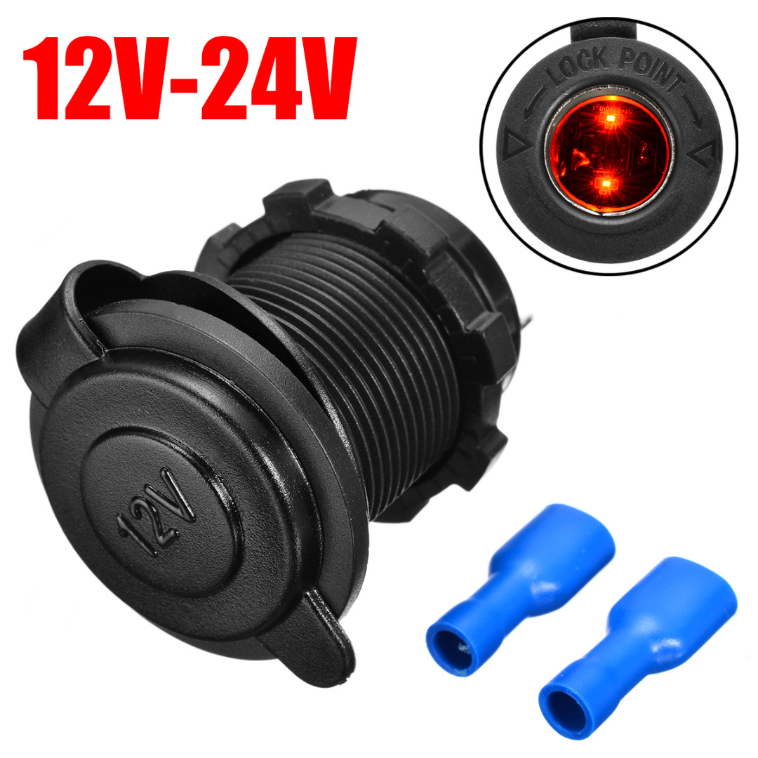 Pohiks 12-24V <font><b>Car</b></font> Cigarette Lighter Socket USB <font><b>Charger</b></font> <font><b>Power</b></font> <font><b>Adapter</b></font> Plug Waterproof Smart Mobile Phone <font><b>Car</b></font> <font><b>Charger</b></font> Accessories image