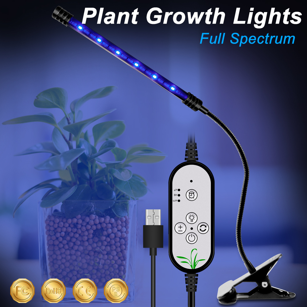 LED USB Light Bulbs For Plant Growth Indoor Lights LED Full Spectrum LED For Hydroponic Grow Tent Plant Lighting IR UV Grow Tent