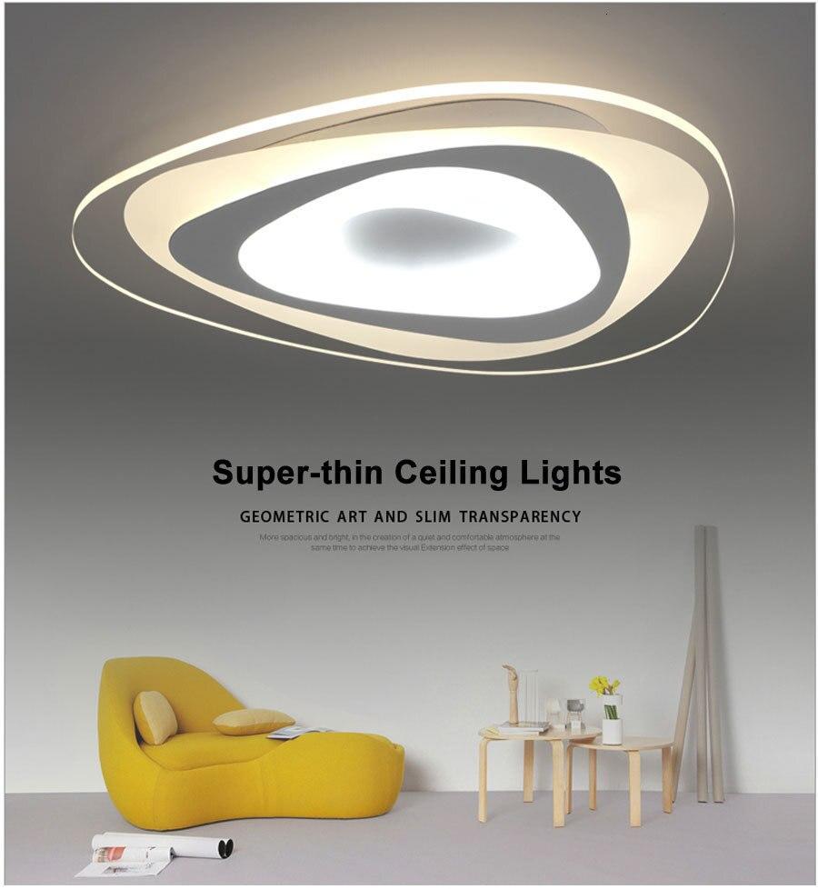 H99872bf007f8439e9c0eb10152e280fdM Ultrathin Triangle Ceiling Lights lamps for living room bedroom lustres de sala home Dec LED Chandelier ceiling