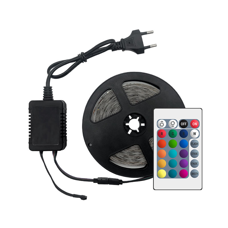 H99874569f1574bbbabae035fa45af7369 LED Strip Light RGB 5050 SMD 2835 Flexible Ribbon fita led light strip RGB 5M 10M 15M Tape Diode DC12V 60LEDs 1M+Control+Adapter