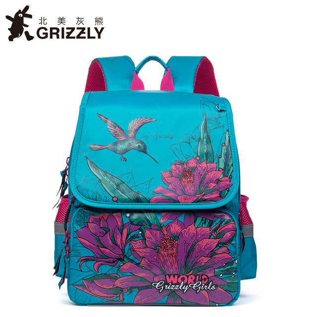 Children School Bags for Girls Russian Style Cartoon Birds Dog Cat Kids Backpack Waterproof Orthopedic Backpack Mochila Escolar