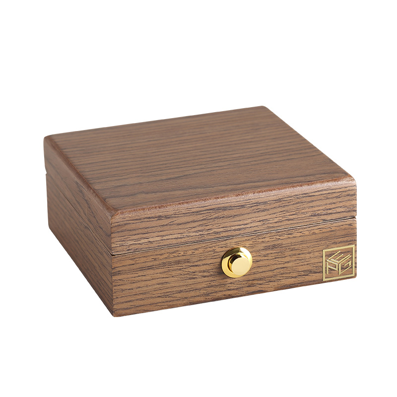 Casegrace Luxury Portable Wooden Small Jewelry Box Organizer Travel Wood Velvet Jewellery Ring Necklace Storage Case