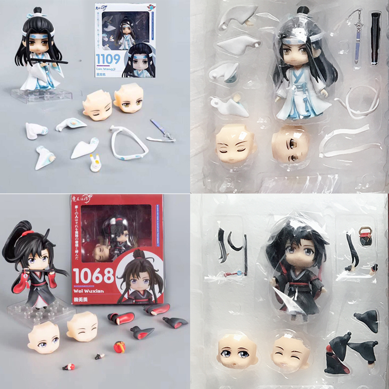 In Stock Nendoroid 1109 1068 Anime Grandmaster Of Demonic Cultivation Lan Wangji Wei Wuxian  Action Figure Collectable Toy Gift