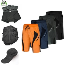 Underwear Cycling-Shorts Downhill Mountain-Bicycle Built-In-Gel-Padded Men's Shockproof