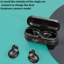 V8 TWS Touch Control LED Bluetooth Wireless Earphones Earbuds HIFI Sport Headset Mini Earphone original i12 tws wireless earphones mini bluetooth 5 0 headset touch control sport earphone stereo earbuds with mic for android