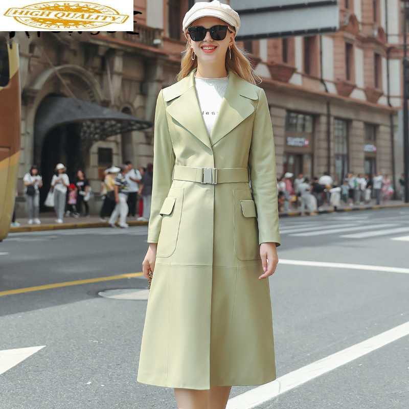 Sheepskin Coat Real Leather Jacket Women Clothes 2019 Genuine Leather Jacket Women Elegant Windbreaker Veste Femme SM20105YY2170