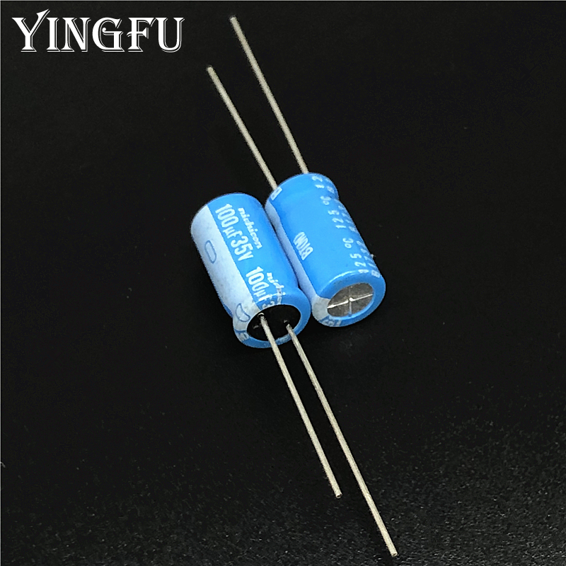 5pcs/50pcs 100uF 35V NICHICON BT Series 8x16mm High Reliable 35V100uF Aluminum Electrolytic Capacitor