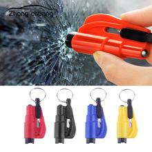 Mini Safety Hammer Keychain Escape Car Lifesaving Window Broken Emergency Glass Crusher Key Pendant