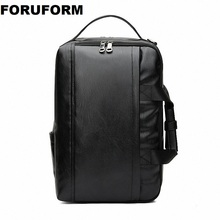 Fashion Men Backpack Men #8217 s 15 6 inch Computer Backpack Designer PU Leather Backpacks Male High Quality Travel Backpacks ZH-332 cheap FORUFORM Retractable Embossing Arcuate Shoulder Strap Polyester Softback NONE Casual Solid Bag zipper 36-55 Litre Interior Slot Pocket