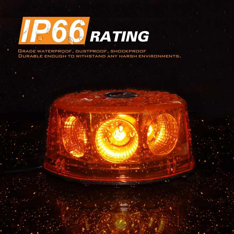 LED rundumkennleuchte luz de advertencia flashes de luz 12//24v Flex 48led r65 acoplable