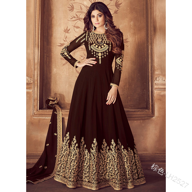 Fashionable Embroidered Evening Dress