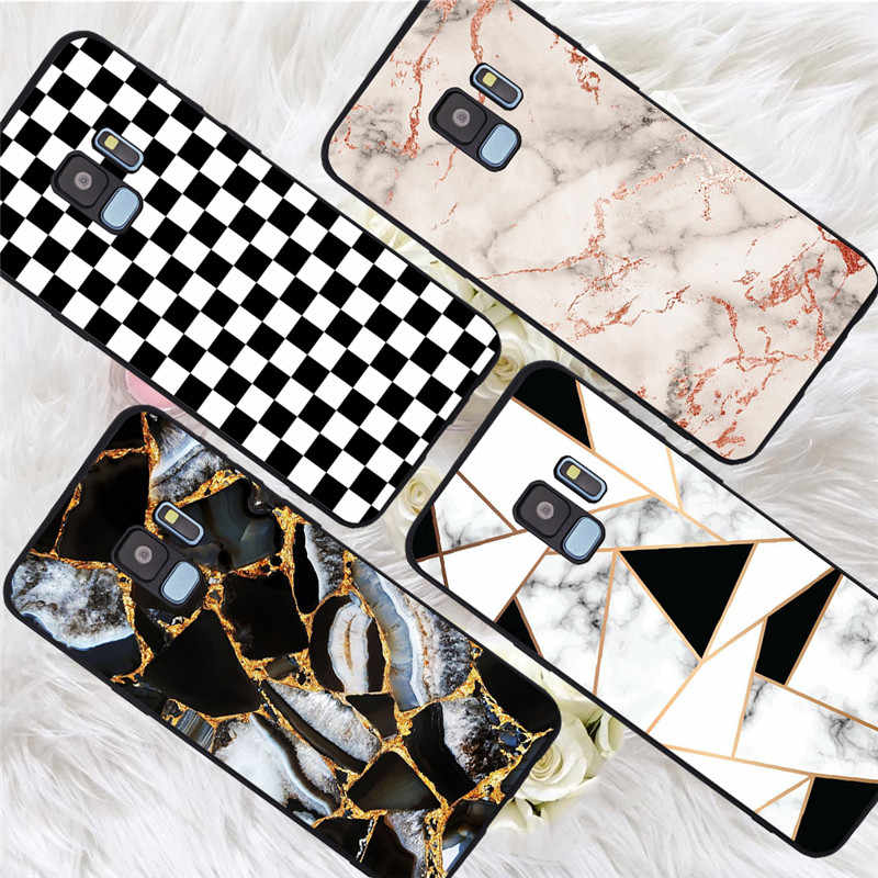 Marble For Samsung Galaxy S6 S7 Edge S8 S9 S10 Plus Lite Note 8 9 10 A30 A40 A50 A60 A70 M10 M20 pro phone Case Cover funda capa