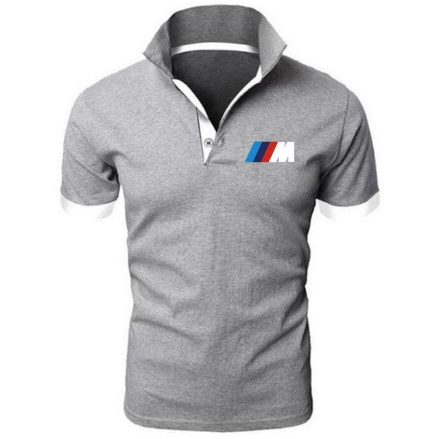 Summer BMW short Sleeve Polo Shirt men polo shirts casual Slim Solid Printing business men's polo shirts men's clothing 5