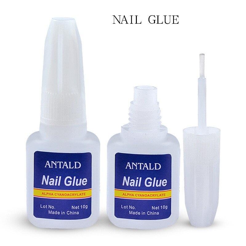 Горячая 1 шт 10 г накладные ногти клей для нейл-арта украшения с кистью накладные ногти клей для ногтей наклейки и наклейки маникюрные инстру...